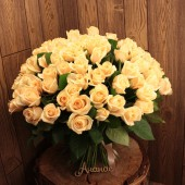 101 роза кремовая