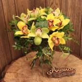 Букет с орхидеями мини
