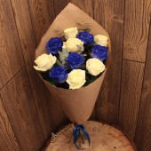 Букет синих роз мини