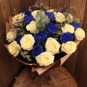 Букет синих роз макси