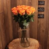 Роза 50 см (Эквадор) оранжевые