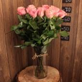 Роза 70 см (Эквадор) розовые