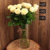 Роза 60 см (Россия) белая