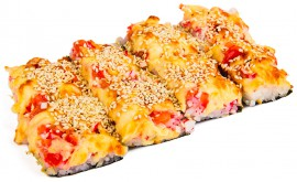 Суши-пицца с беконом