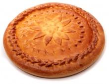 Пирог из слоеного теста с грибами и картофелем