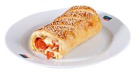 Пицца-рулет Стромболи с пепперони и грибами