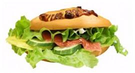Сэндвич с семгой и омлетом