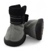Ботинки Triol мягкие д/собак замша на липучках серые, 1